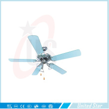 52-дюймовый высококачественный декоративный потолочный вентилятор без света