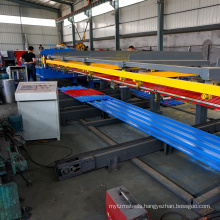 Manual straddle roof panel sheet automatic stacker machine for roll forming machine