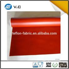 Easy Clean Resistente al calor 0.30 mm tamaño personalizado rojo negro blanco gris plata tejido de tela recubierto de silicona
