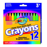 crayons of 12ct, 24ct, 36ct, 48ct, meet EN71 and ASTM D-4236 standard