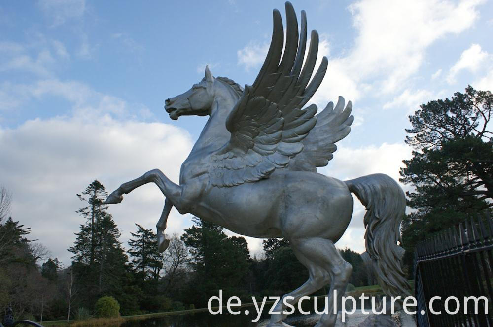 Stainless Steel Horse Sculpture