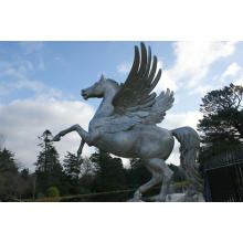 Stainless Steel Horse Sculpture With Wings