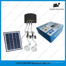Sistema de luz solar com 2 luzes e carregador de telefone Kit Solar (PS-K013N)