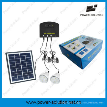 Solar Light System mit 2 Lampen und Handy-Ladegerät Solar Kit (PS-K013N)