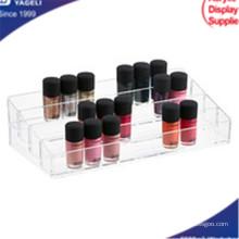 Organizador de cosméticos claro acrílico com Drawres, Organizador de unhas