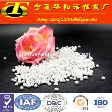 Precio de fábrica 3-5mm bola de alúmina activada para la Adsorción