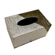 Caja rectangular creativa del tejido del leatherette para el guestroom