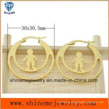 Shineme joyería de alta calidad de acero inoxidable recubrimiento de oro pendiente (ERS6976)