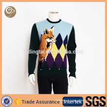 Fashion wholesale knitted 100% wool sweater