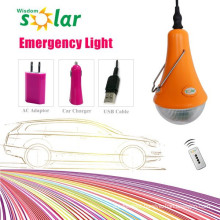 Rechargeable led emergency bulb light with built-in battery