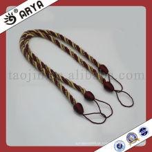 Tassel de cordão de cortina decorativo, corda decorativa para valência, amarração de cordão