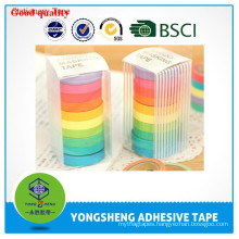 2015 Hot Selling Office Stationery Tape,Colorful Transparent Stationery Tape