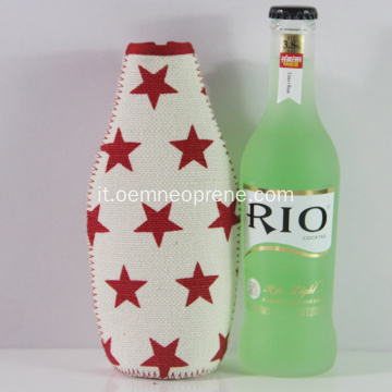 Raffreddatori di birra in neoprene isolati impermeabili Star Design