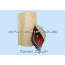 stand up paper pouch/glassine paper bag/paper coffee bag with valve