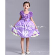 Горячая распродажа София платье костюм маленькая принцесса девочка платье для дети партии носить
