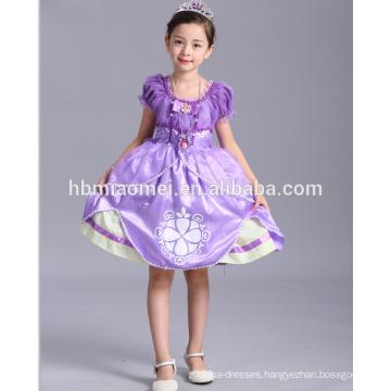 Hot sell sophia dress costume little princess girl dress for children party wear
