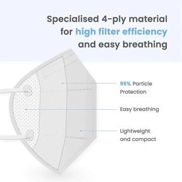 KN95 5ply respiratory half filtering FFP2 face mask