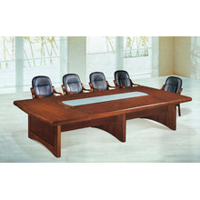 Wooden veneer small meeting table for conference room