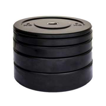 Custom Useful Gym Black Rubber Weight Plates