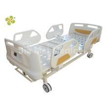 Cama de hospital médica con rieles