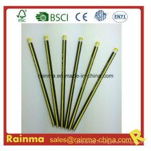 Triangle néon couleur baril Hb en bois crayon jaune