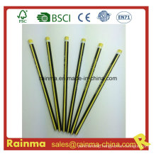 Triangle Neon Color Barrel Hb Wooden Pencil Yellow