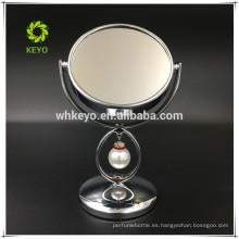 2017 productos de tendencia espejo de maquillaje de mesa espejo lindo 3X ampliación espejo de maquillaje