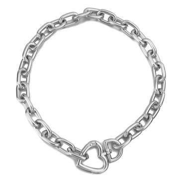 Fashion Gold Color Necklace for Women Bijoux Heart Choker Long Heart Pendants Necklaces 2020 Geometric Vintage Jewelry