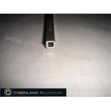 Tige d'inclinaison de profil en aluminium pour le style carré creux en argent anodisé par aveugle vertical