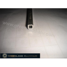 Haste de inclinação de perfil de alumínio para cego vertical anodizado prateado oco estilo quadrado