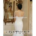 2016 Sexy see through mermaid wedding dress plus size fishtail lace white wedding dress