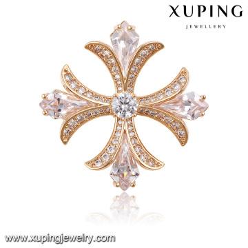 00025 мода элегантный кубического циркония брошь ювелирные изделия покрытием из розового золота
