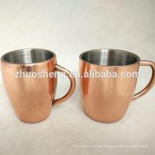 Color personalizado cambiando taza de cobre mula de Moscú para la venta