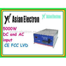 Zwei Eingänge AC & DC Wechselrichter mit AC als Priorität Leistung als Priorität 5000W Wechselrichter