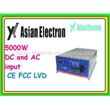 Two inputs AC & DC inverter with AC as priority power as priority 5000W inverter