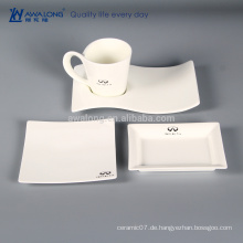 Plain White Menge Produktion Logo Kundenspezifische Kaffeetasse und Untertasse Set, hochwertige Kaffeetasse Set