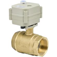 2 Way 1-1 / 4 '' Электрический клапан с латунным шаровым клапаном с ручным управлением (T32-B2-B)