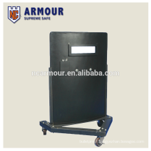 NIJ IIIA wheeled military ballistic bulletproof shield