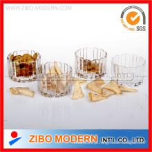 Conjunto de vidro de 4PC Ramekin prato