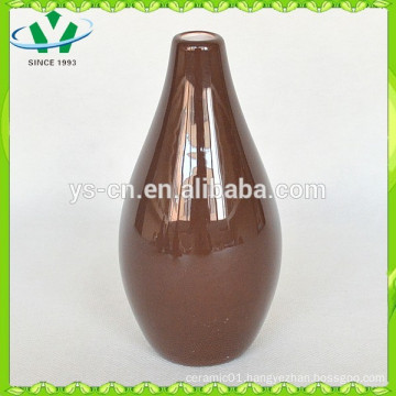 New Soild Color Brown Modern Vase Made In China