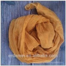 Tissu en polyester moulant en couleur solide pour écharpe