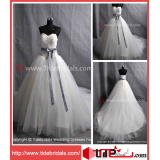 2014 Bridal Dress Bow Tulle Wedding Gown (AS4101)