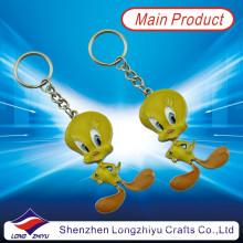 Cartoon Lovely Tweety Promotion Fashion Metal Keyring Custom Keychain (LZY800011)