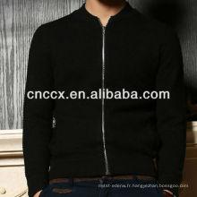 13STC5475 hommes tricoté zip cardigan pull