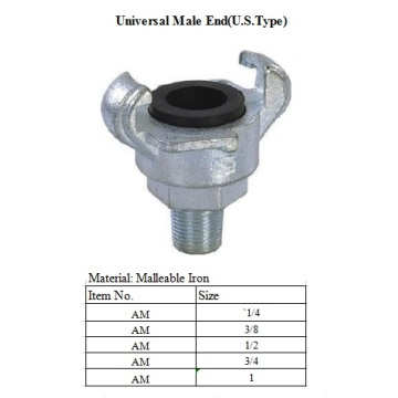 USType End Universal Air Coupling Male End