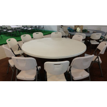 Mobília chinesa 2m Blow Mold Banquete Wedding Folding Round Table com plataforma giratória