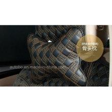 Car Headrest Neck Pillow Bone Shape Chinese Knot Pattern-Golden Black