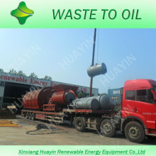 Usine municipale en plastique de pyrolyse d'ordure de Chambre de déchets solides de 300T à l'huile