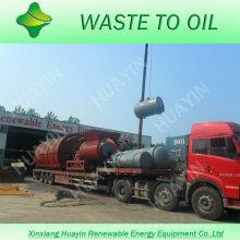 300T Planta plástica municipal da pirólise do lixo da casa Waste contínua ao óleo