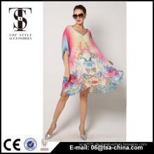 Frauen Deep V Backless Wrap Bademode Bikini Beach Cover Up Sarong Beach Dress Am beliebtesten